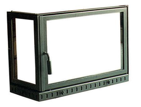 Fireplace glass door