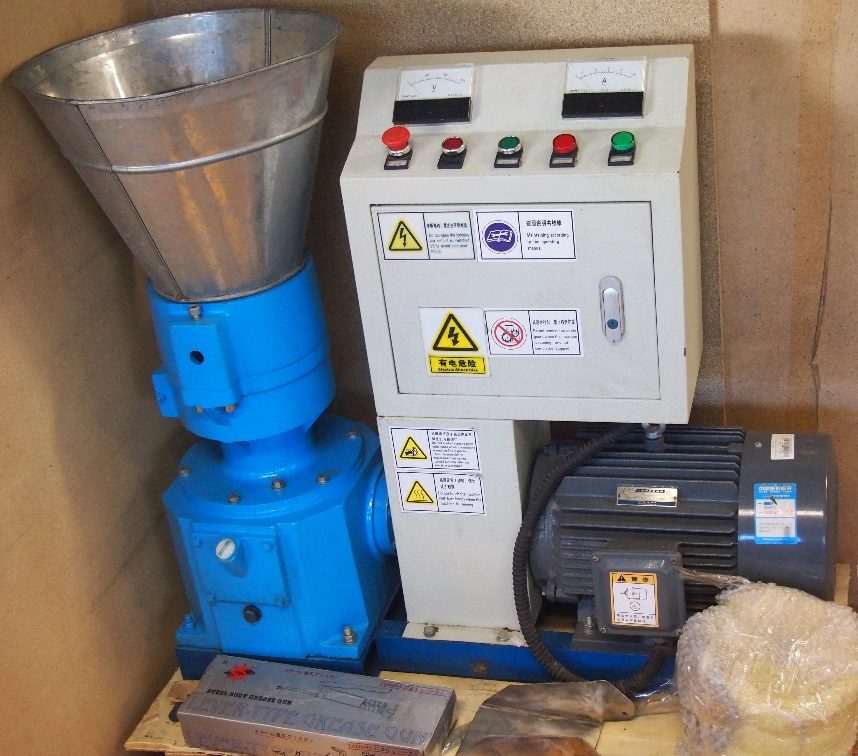 Small pellets mill 7,5kw with control panel and Siemens motor