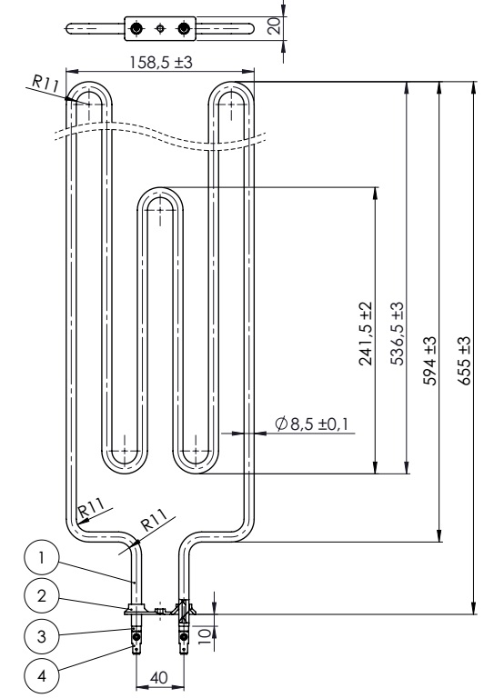 Sauna heater element 2200W