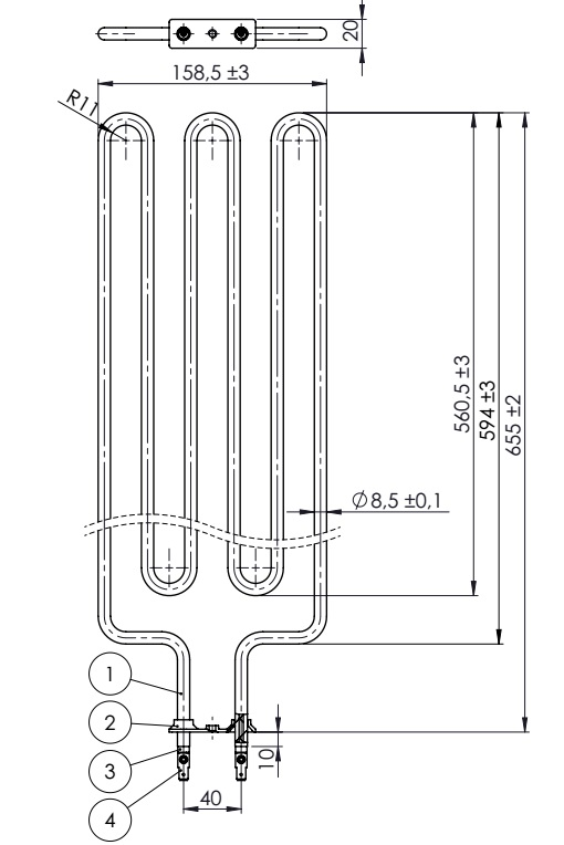 Sauna heater element 3000W