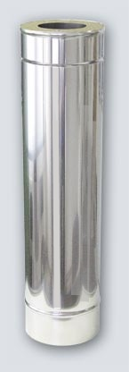 1 m x 100/200 Dn stainless steel insulated chimney